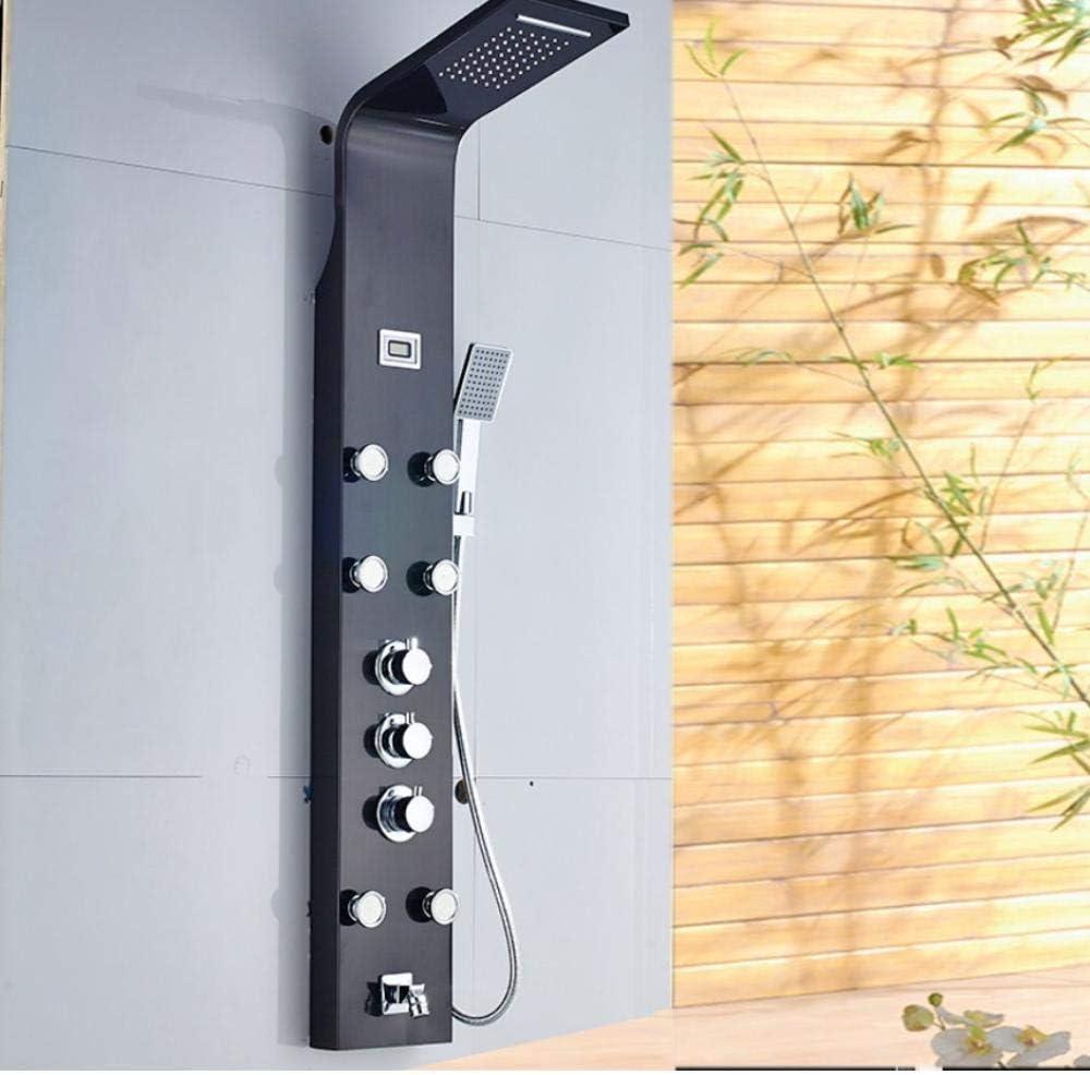 Chorros de masaje en cascada Columna de ducha termostática para ...