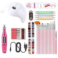 UV LED Nail Lamp Nail Art Set, Nail Polish Kit with UV Light Starter Set, Practical Portable UV Lamp LED Dry Nail Kit…