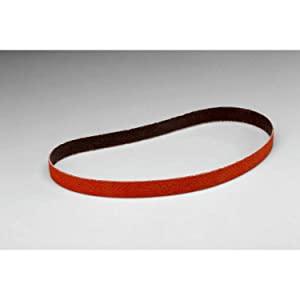 "3M(TM) Cloth Belt 777F, Ceramic Grain, Wet/Dry, 1/2"" Width x 18"" Length, 60 Grit, Orange (Pack of 200)"