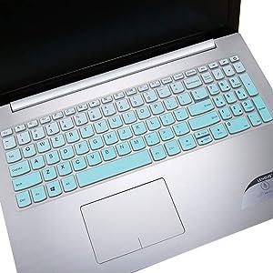 "Keyboard Cover Skin for 2019 2018 Flagship Lenovo IdeaPad 320 330 330s 15.6"" / Lenovo IdeaPad 320 330 17.3"" / Lenovo IdeaPad 520 720s 15.6"" Keyboard Protective Skin, Gradual Mint Green"