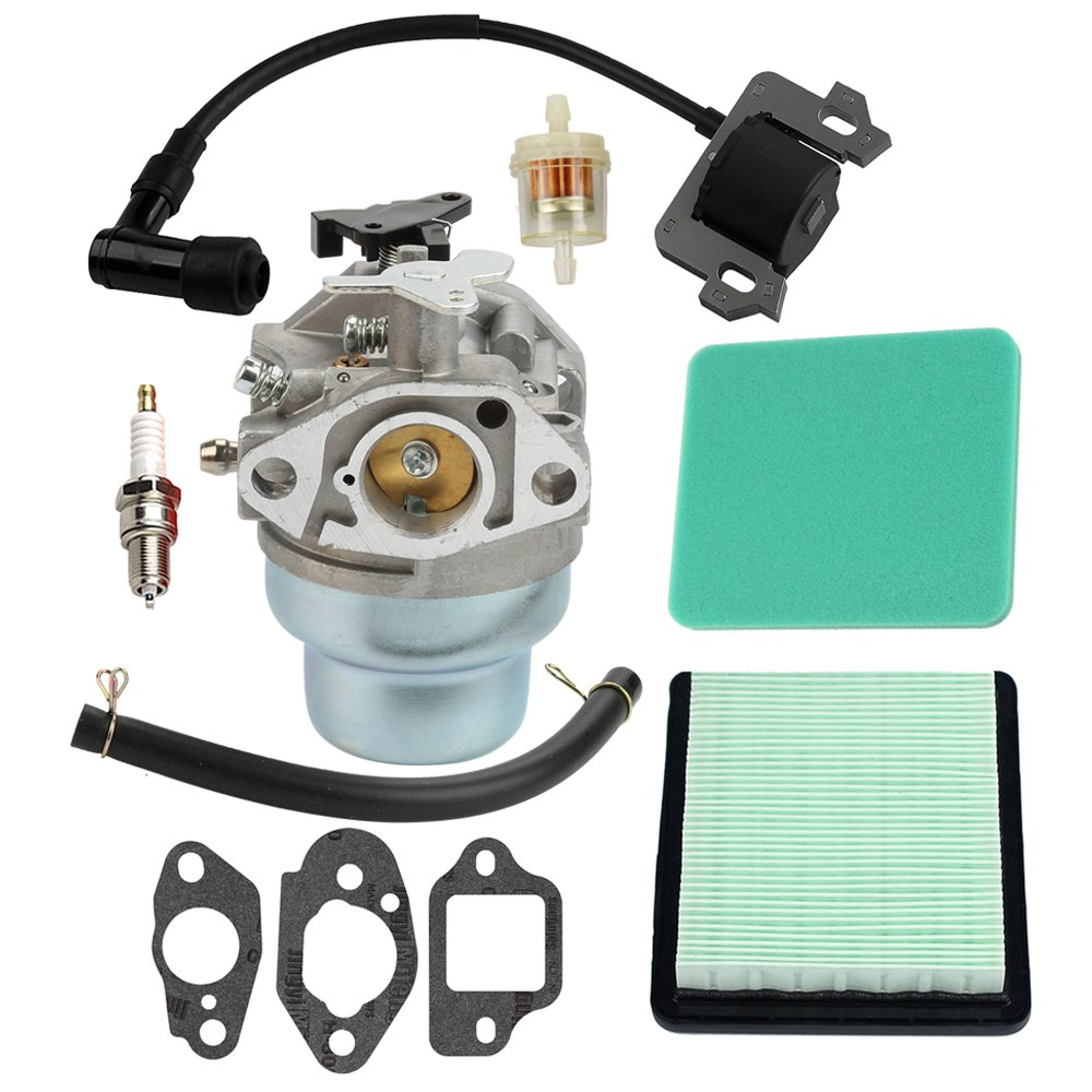 Amazon.com : Hilom Carburetor with Fuel Air Filter Gaskets Spark Plug  Ignition Coil for Honda GCV160 Replaces HRB216 HRR216 HRS216 HRT216 HRZ216  carb ...