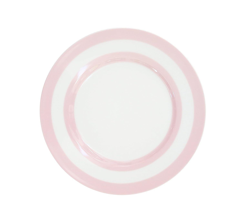 Dessertteller//Kuchenteller//Fr/ühst/ücksteller rosa Streifen Krasilnikoff /Ø 20 cm Porzellan