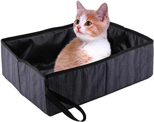 Caja de Arena para Gatos, Plegable portátil para Mascotas Caja de ...