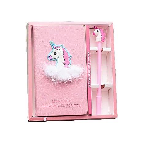 Bleu Licorne ordinateur portable Box Set Agenda avec stylo à ...