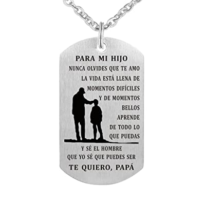 Amazon com: to My Son Never Forget That I Love You Spanish