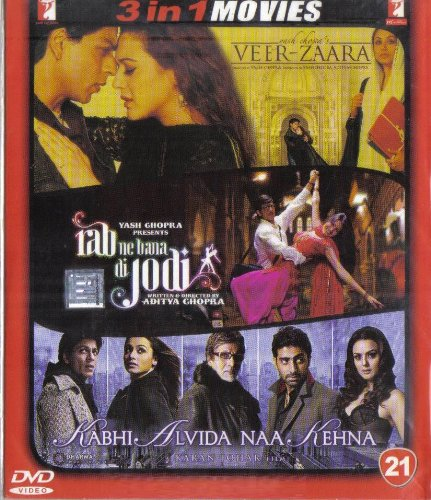 Veer-Zaara / Rab Ne Bana Di Jodi / Kabhi Alvida Naa Kehna(3 in 1 - 100% Orginal DVD Without Subtittle)