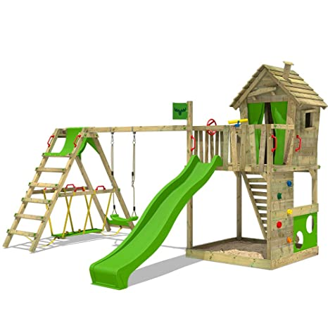 FATMOOSE Torre para HappyHome Hot XXL Casa sobre pilotes casa de árbol con columpio, extensión