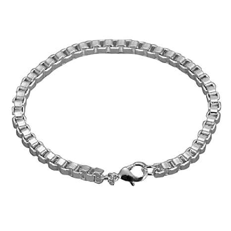 5a56be4076a0 joyliveCY 2018 la moda mujer elegante 925 ba ntilde ado en plata joyas  pulsera sola capa