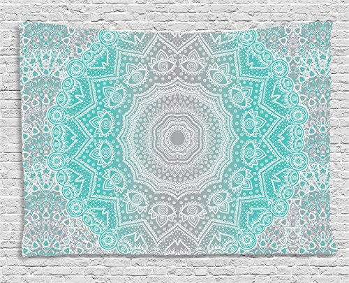 Turquoise Tapestry Ambesonne Primitive Spiritual