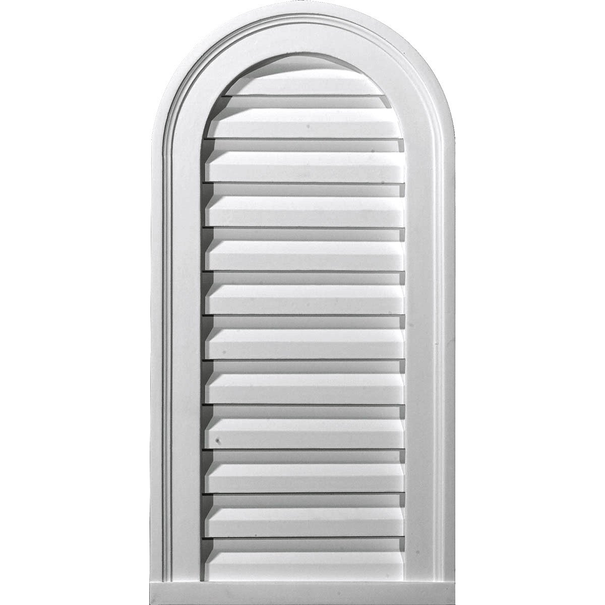 Ekena Millwork GVCA12X24F 12-Inch W x 24-Inch H x 1 7/8-Inch P Cathedral Gable Vent Louver, Functional