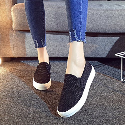 KHSKX-Casual Flat Shoes Korean Style Pedal Lazy Shoes Leisure Flat Shoes Breathable Shoes For Students Thirty-eight 3SZGLL8MIn