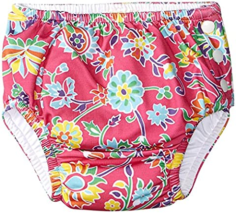 Masala Baby Girls Baby Swim Diaper Cover Ananya Floral Pink, Pink/Green, 18-24 Months