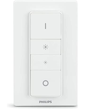 Philips Hue - Interruptor y mando inalámbrico, iluminación inteligente, puede colocarse en la pared