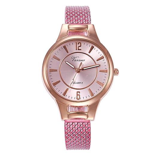Reloj De Cuarzo Mujer Moda Temperamento Relojes Correa De Silicona Esfera De Colores Elegante Watches Regalo: Amazon.es: Relojes