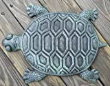 garden stepping stones Iron Verdigris Garden Turtle Stepping Stone