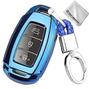 Azul Funda para Llave Smart Key para Coche 2017-2019 Hyundai ...
