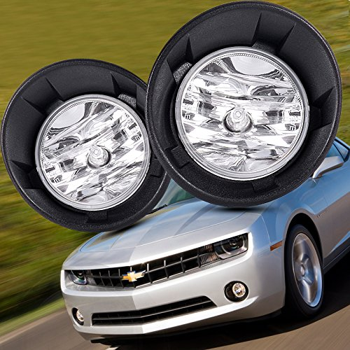 Fog Light kit for 10-13 Chevy Camaro LS LT SS Replacement Fog Lights Assmebly+Wiring Bezel Cover Lamps Front Bumper Driving Light
