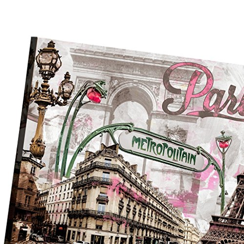 Framed Pink Paris Eiffel Tower Romantic Canvas Prints