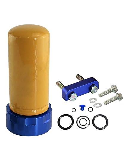 .com: blackhorse-racing 6.6l cat fuel filter adapter spacer ...