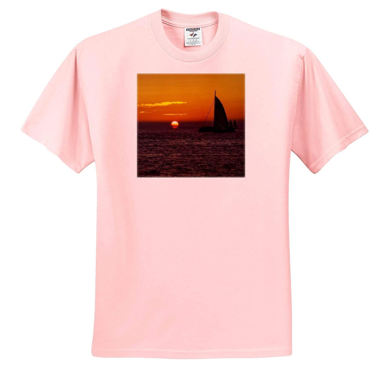 3dRose Mike Swindle Photography T-Shirts Landscapes Sailboat Sunset