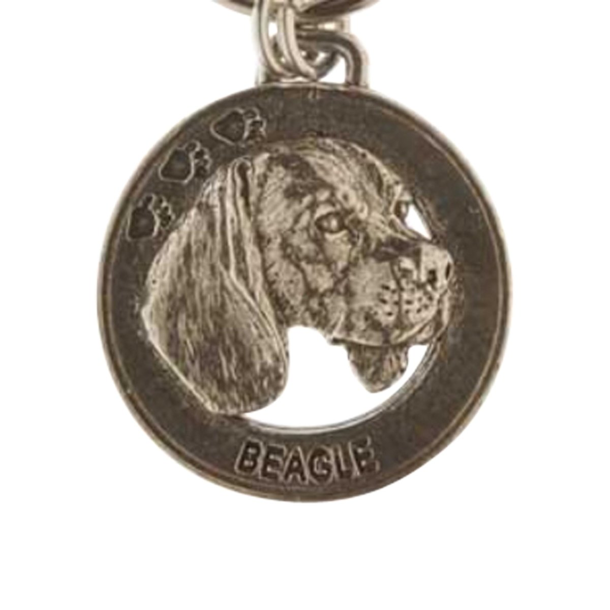 Creative Pewter Designs, Pewter Beagle Key Chain, Antiqued Finish, DK022