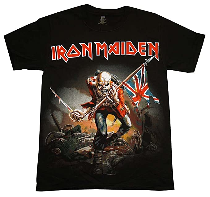 59855a4f Amazon.com: Iron Maiden Trooper T-Shirt: Clothing