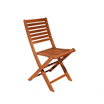 Vifah V1382E Outdoor Wood Folding Bistro Chair, 2 Pack (Discontinued By  Manufacturer)