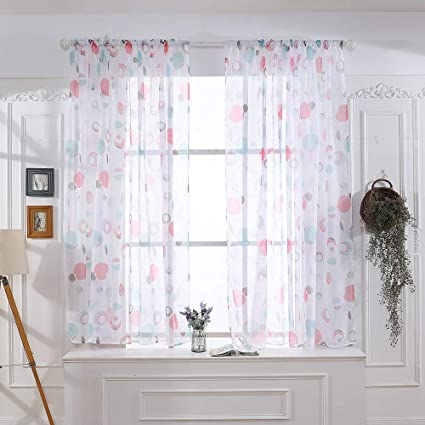 window treatment sale jc penny hot saledeeseetmleaves sheer curtain tulle window treatment voile amazoncom
