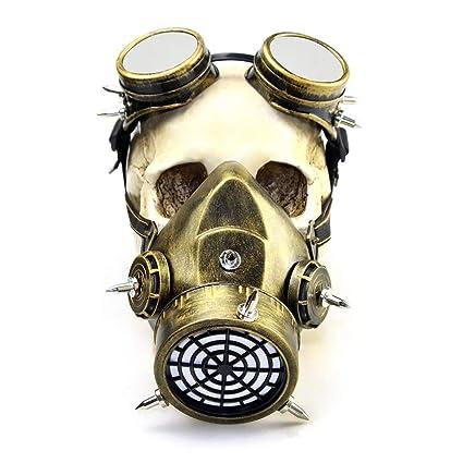 Deebubblering Biohazard Steampunk Máscara de Gas Gafas Spikes Esqueleto Guerrero Máscara de la Muerte Masquerade Cosplay