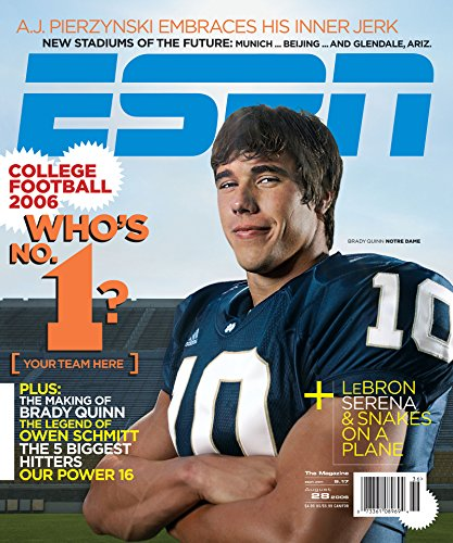 ESPN Magazine, Single Issue, August 28, 2006
