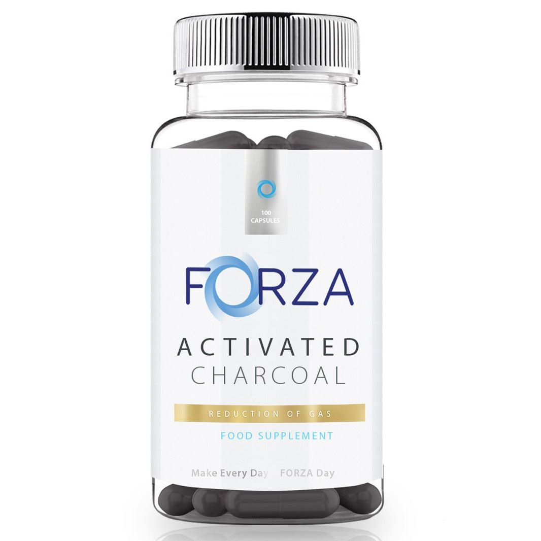 FORZA Activated Charcoal Capsules 1000mg High Strength Formula - Reduce Bloating With Activated Charcoal Tablets - 100 Capsules