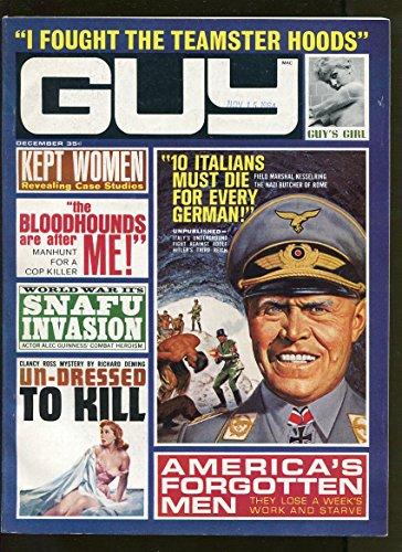 GUY DECEMBER 1964-RICHARD DEMING-WW2-PULP FICTION-VF+