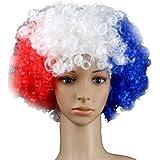 Lomire Perruque colorée du drapeau national pour la Coupe du monde de football en Russie 2018, une décoration parfait des fans de football pour la grande festival de la Coupe du monde de la FIFA 2018