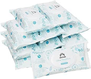 Marca Amazon - Mama Bear Ultra Sensitive - Toallitas humedas para bebé - Paquete de 12 (720 toallitas -100% tejido biodegradable): Amazon.es: Salud y cuidado personal