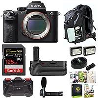 Sony Alpha a7RII Mirrorless Digital Camera (Body Only) w/128GB SD Card & Photo/SLR Sling Backpack Bundle