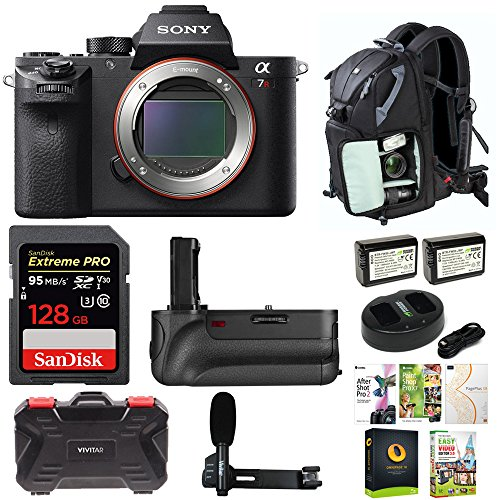 Sony Alpha a7RII Mirrorless Digital Camera (Body Only) w/128GB SD Card & Photo/SLR Sling Backpack Bundle