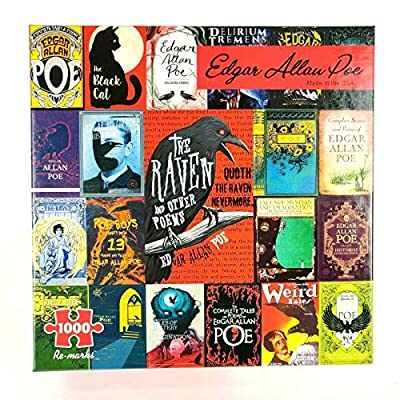 Puzzle 1000 Piece Showing Edgar Allan Poe Short Stories Poems Cover Mini Poster: Toys & Games