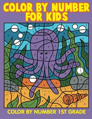 color by number for kids color by number 1st grade marshall kids 9781517434960 amazoncom books - Color By Number Books