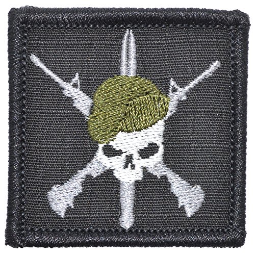SF Green Beret Crossed Rifles - 2x2 Morale Patch (Black)