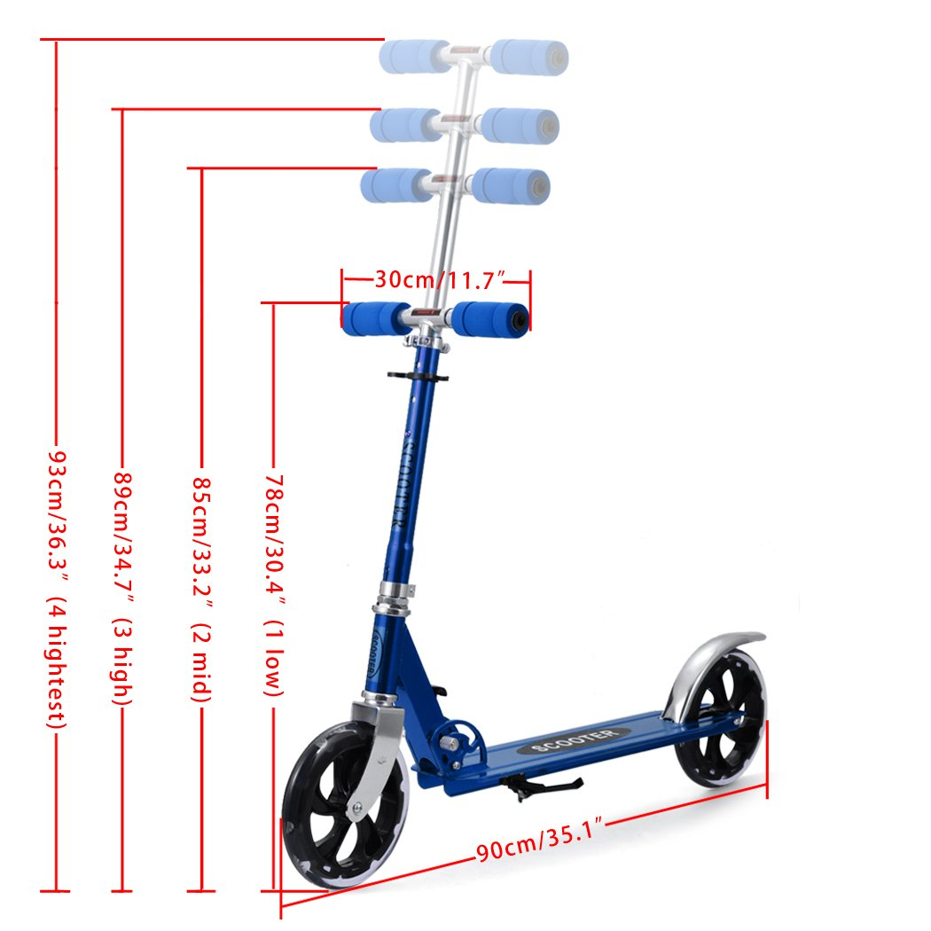 Befied patinete scooter profesional aleación de aluminio ...