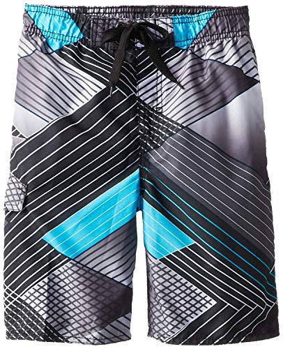 (Kanu Surf Big Boys' YOLO Quick Dry Beach Swim Trunk, Black, Large (14/16))