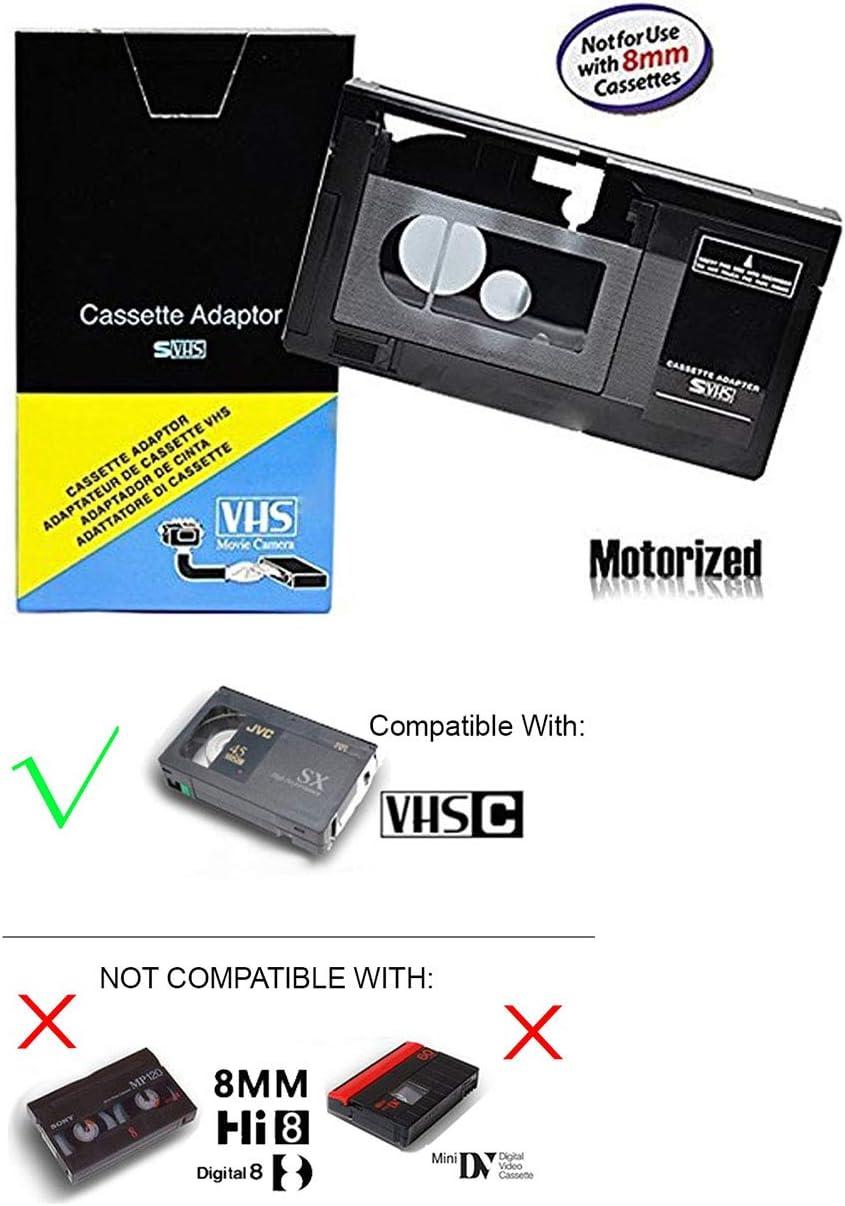 motorizado VHS-C adaptador de casete para JVC c-p7u cp6bku c-p6u, Panasonic pv-p1, RCA vca115, Modelo:, para dispositivos electrónicos y accesorios tienda: Amazon.es: Electrónica