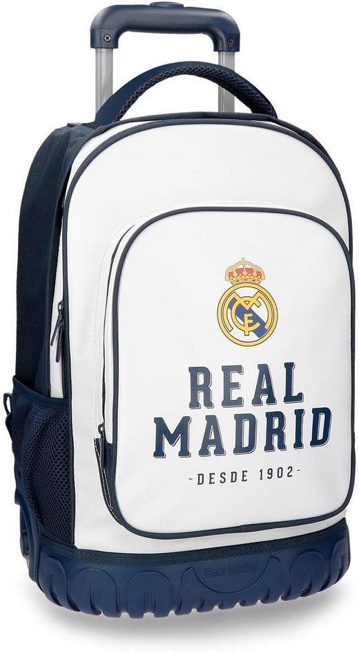 Real Madrid 5382962 RM GOL Equipaje de Mano, 50 cm, 33.6 litros, Blanco