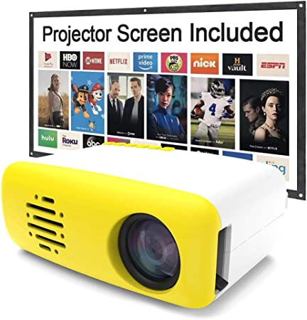 whelsara Proyector HD Proyector AV TV Interfaz Control remoto Micro LED Mini proyector Portátil A todo color resentido Video Película Fiesta Videojuego LCD Teléfono móvil HDMI USB Espejo consistent: Amazon.es: Bricolaje y