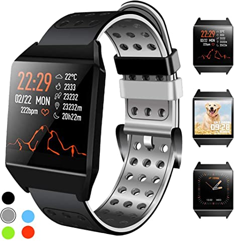 Beaulyn Fitness Tracker Bluetooth Smart Watch with Heart Rate Monitor Call Reminder Activity Trackers Waterproof Step Calorie Counter Pedometer Band ...