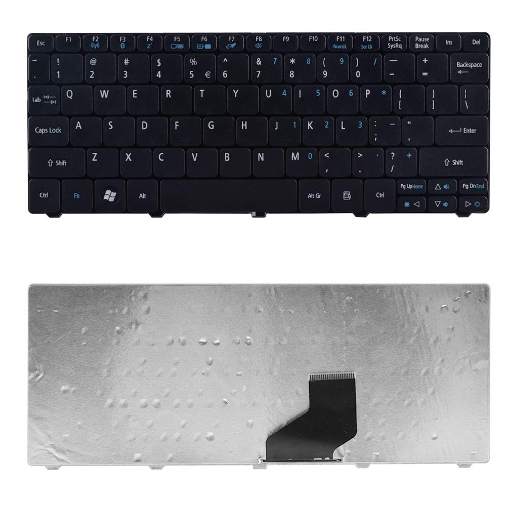 Eathtek Replacement Keyboard for Acer Aspire One 532h 521 522 533 D255 D255E D256 D257 D260 D270 NAV50 AO521 AO522 AO533 KB.I100A.026 Black