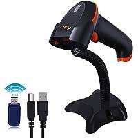 Tera Lecteurs de codes barres, Scanner de Code à Barres sans fil 2,4G, Scan Automatique Douchette USB Câble Support mains libres