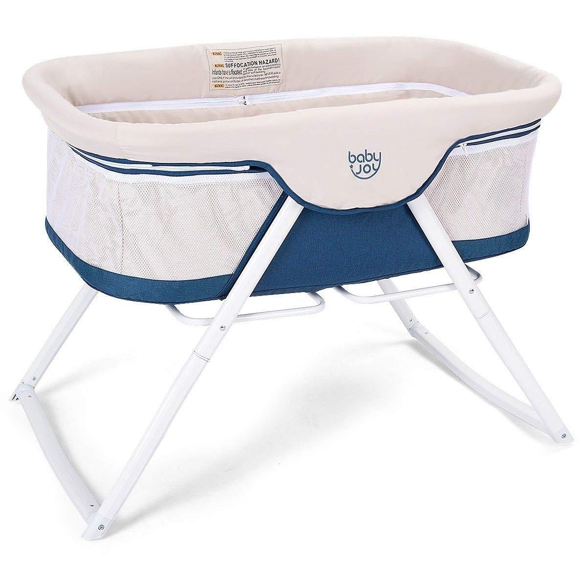 Rungfa Foldaway Baby Bassinet Crib Newborn Rocking Sleeper Traveler Portable with Bag by Rungfa