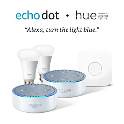 Amazon.com: Philips Hue White and Color Starter Kit + Echo ...
