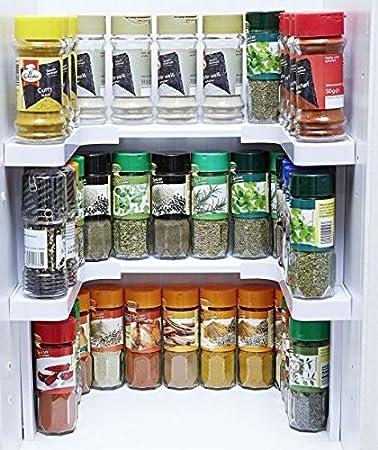 GKA Gewürzregal für Küchenschrank Gewürzbord Gewürze steckbar ...